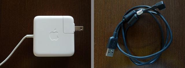Type-Amicro(USB 2.0)と Type-B(USB 2.0)