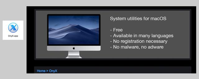 OnyX OnyX 3.4.6 for macOS High Sierra 10.13