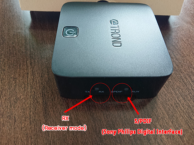 セッティングは、S/PDIF(Sony Philips Digital InterFace)とRX(Receiver mode)へ