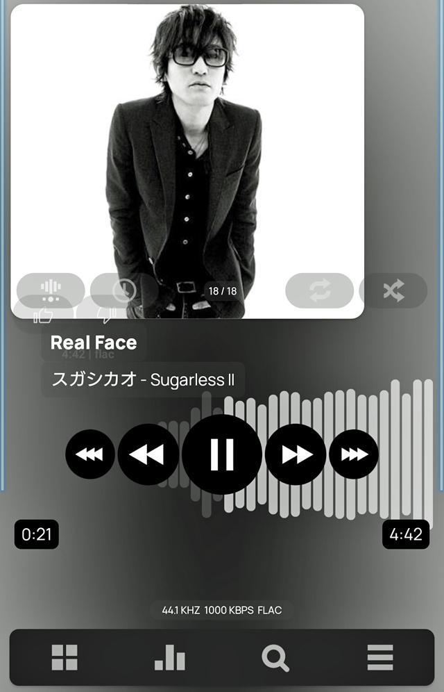 アルバムSugarlessIIからRealFace(KAT-TUNのデビューシングル)セルフカバー曲