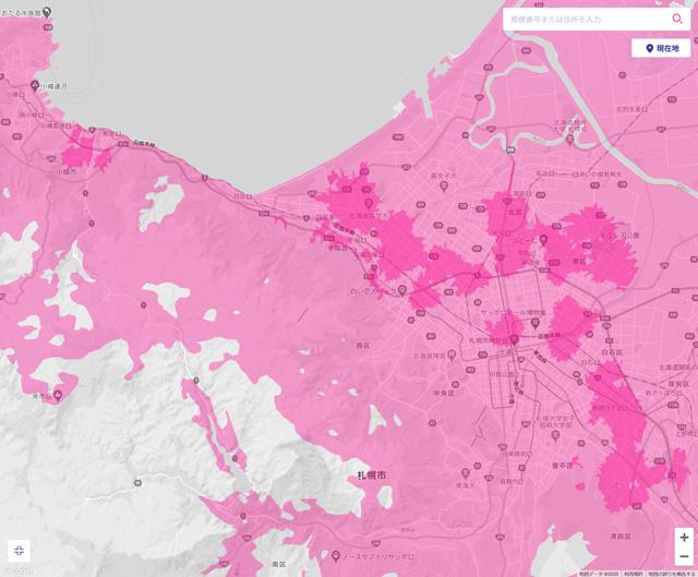 札幌の北と東にエリアを確立しているものの、札幌の市電のエリアはまだのようです。