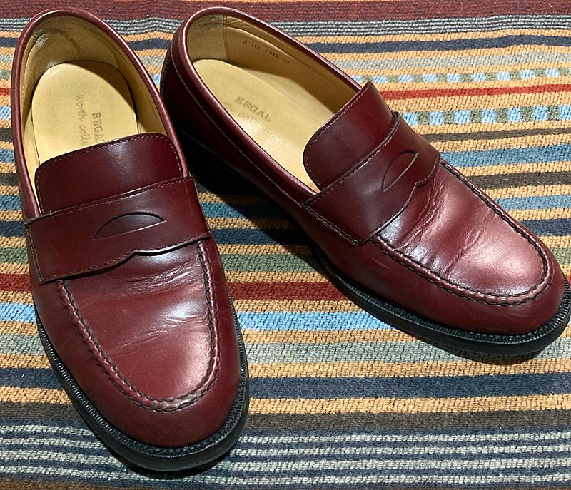 昔、靴墨にREGAL純正「チェリーブラウン」という銘品があったのを思い出す、ワイン色のコインローファー