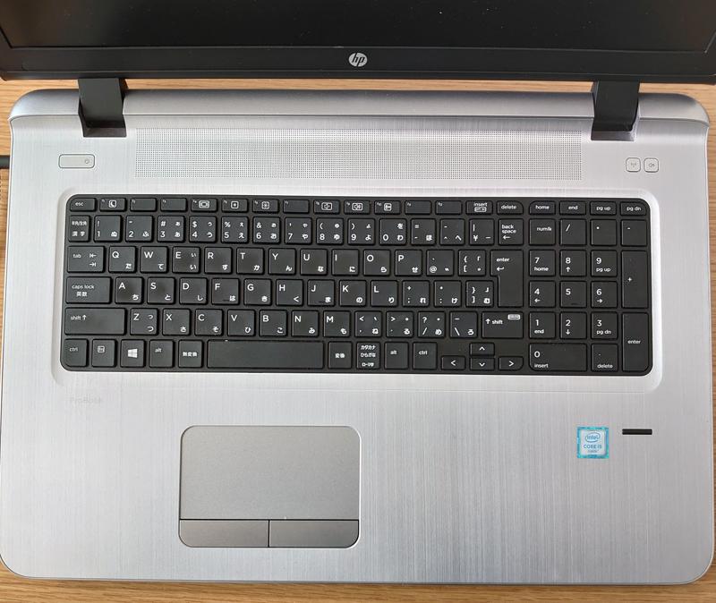 HP ProBook 470 G3は、17.3inchの液晶で巨大です。