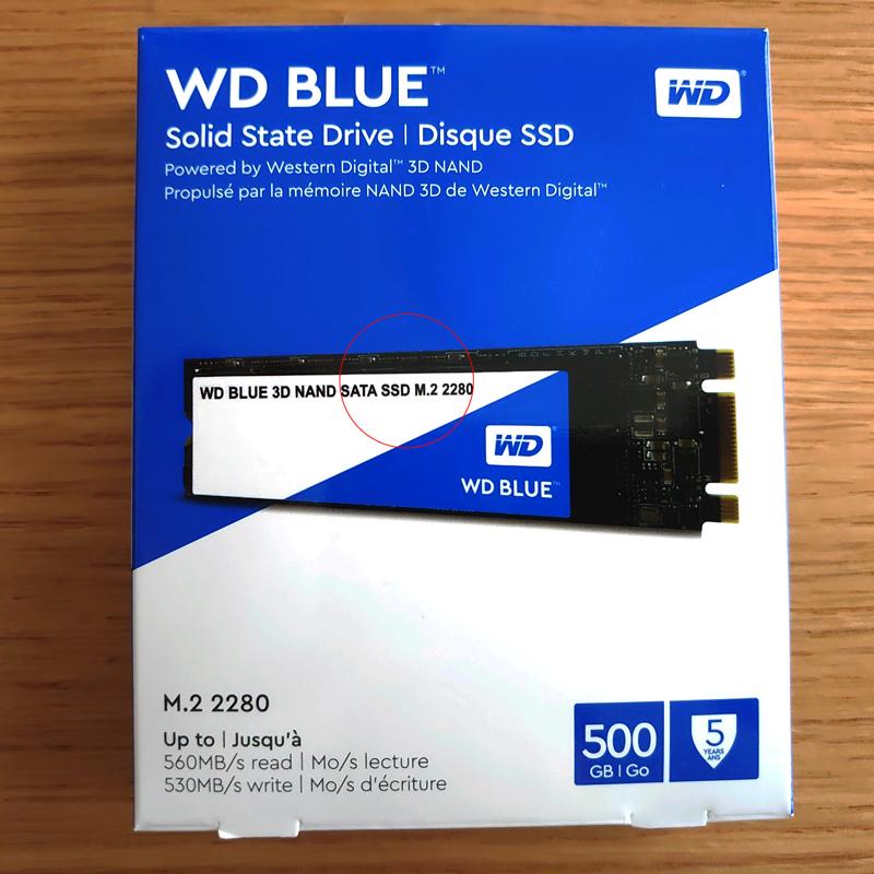 SATA3のSSDカード512GB